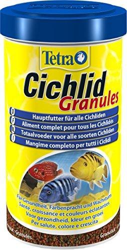 Tetra Cichlid Granules (Hauptfutter Mix für mittelgroße Cichliden, 2 verschiedene Granulate), 500 ml Dose -