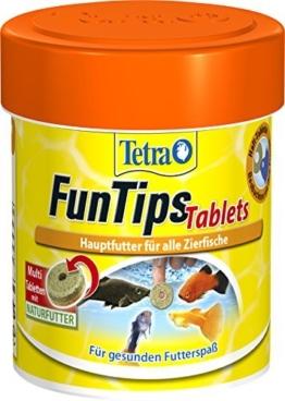 Tetra FunTips Tablets Haft-Futtertabletten (Hauptfutter, haftet an der Scheibe, zum Fische beobachten, natürliche Verstärkung der Farbenpracht), 75 Tabletten Dose -