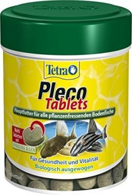 Tetra Pleco Tablets (Grünfutter-Tabletten mit einem hohen Anteil an Spirulina-Algen, Hauptfutter für alle pflanzenfressenden Bodenfische und scheuen Zierfische), 275 Tabletten Dose -