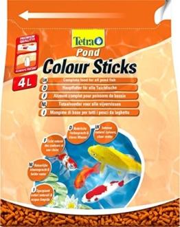 Tetra Pond Colour Sticks (Hauptfutter zur Entfaltung der natürlichen Farbenpracht aller Teichfische), 4 Liter Beutel -