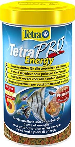 Tetra Pro Energy Premiumfutter (für alle tropischen Zierfische, mit Energiekonzentrat für extra Wohlbefinden, Vitaminstabilität und hoher Nährwert, konzentrierter Nährstoffgehalt Omega-3 Fettsäuren), 500 ml Dose -