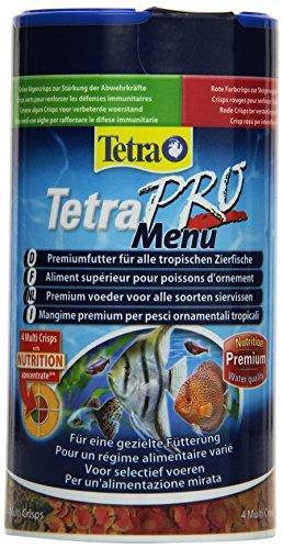 Tetra Pro Menu Premiumfutter (Flockenfutter-Mischung für alle tropischen Zierfische, enthält Multi-Crisps für Energie, Farbe, Wachstum, für eine gezielte Fütterung), 250 ml Dose -