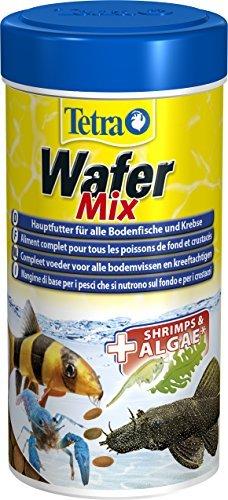 TetraWafer Mix Hauptfutter (in Waferform für alle Bodenfische und Krebse, ausgewogenes Premiumfutter mit Shrimps, Spirulina-Algen für verbessertes Immunsystem), 250 ml Dose -