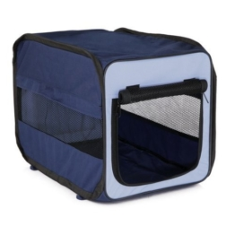 Trixie 39692 Transport-Hütte Twister, faltbar, hellblau/dunkelblau, Größe S, 45 × 45 × 64 cm -