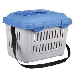 Trixie 3979 Midi-Capri Transportbox, 44 × 33 × 32 cm, blau/grau -