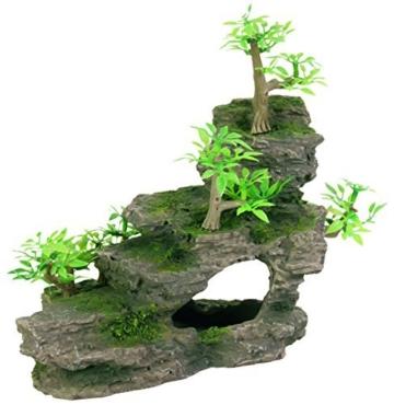 Trixie 8852 Felsentreppe mit Pflanzen, 19 cm -