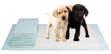 VIDIMA Puppy-Pads in der Größe 60x90 cm | 100 Stück | mehrlagige Welpenunterlage für Tiere bei Inkontinenz | ideal als Trainingsunterlage bei Hunde-Training | saugstarke & rutschfeste Unterseite -