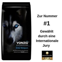 Vonziu Elite Premium Hundefutter / Welpenfutter – Hochenergetische Tiernahrung – Für kleine & große Hunderassen - Hypoallergen - Reich an Fischöl / Vitaminen / Mineralien – 100% Natürliche Zutaten -