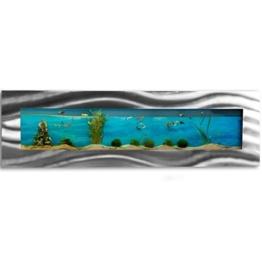 Wandaquarium 1525x430x110mm, Komplett XXL Zubehör Set Nano Aquarium Pumpe IPX8 Norm Leuchte uvm -