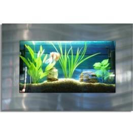 Wandaquarium 870x580x110mm, Komplett XXL Zubehör Set Nano Aquarium Pumpe IPX8 Norm Leuchte uvm -