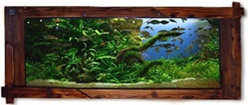 Wandaquarium- Dark Wood 160, Panorama Aquarium - Wall Aquarium -