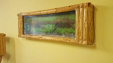 Wandaquarium-Frame Forest Wood 180, Panorama Aquarium - Wall Aquarium -