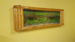 Wandaquarium-Frame Forest Wood 180, Panorama Aquarium - Wall Aquarium -