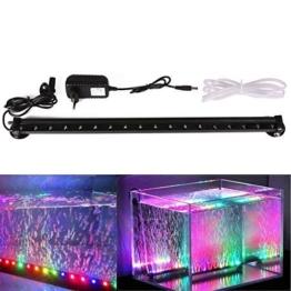 Xcellent Global Multi Farben 18 LED Aquarium Aquariumlicht RGB Luftblasen Lampen wasserfest Unterwasserlicht langsames Aufleuchten 46 cm mit UK Stecker M-LD081 -