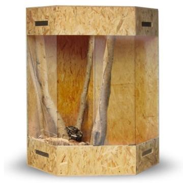 XXL Terrarium Holzterrarium Eckterrarium 180 x 100 x 100 mit Seitenbelüftung -
