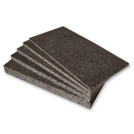 3 x Schwarzkork Rückwand 100 x 50 x 2 cm - Inhalt 1,5 qm / Grundpreis 10,40 €/qm -