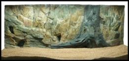 3D Aquarien Rückwand 120x60 Fels mit Wurzel -