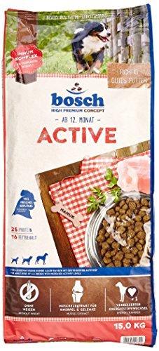 bosch Hundefutter Active, 1er Pack (1 x 15 kg) -