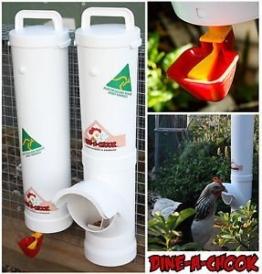 Dine a Chook Hühner Futterautomat Set Futter/Wasser -