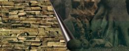 Europet Bernina 241-109038 Photo-Rückwand, 120 x 50 cm Motiv Tree und Rock -