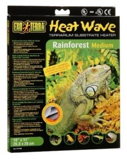 Exo Terra Heat Wave Rainforest, Substratheizung für Terrarien, 26,5 x 28 cm -