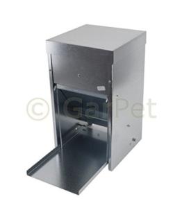 Hühner Geflügel Futterautomat mit Tritt Klappe Platte Futter Trog Spender Silo (Futterautomat 10 L) -