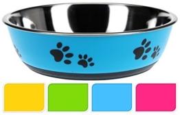 Hunde Fressnapf - gummierte Unterseite 22cm Antirutsch Napf Futternapf Hundenapf Pink -