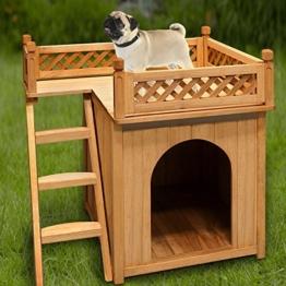 Hundehütte Hundehaus Katzenhaus Hundehöhle Tierhaus Hund Holz Box Garten Sonnenterasse -