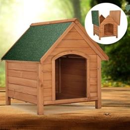 """Hundehütte / Hundehaus """"Rocky"""" mit aufklappbarem Bitumendach und erhöhtem Boden 71 × 88 × 83cm -"""