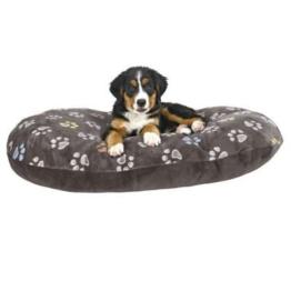 Hundekissen 80 x 50 cm über 10 cm dick kuscheliges Hundekissen mit leicht glänzendem Plüschbezug Mit Reißverschluss Bezug waschbar 30°C ideal auch für Weidenkörbe oder Kunststoffkorb -