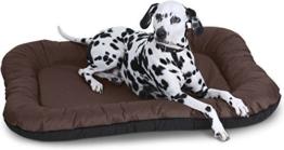 Knuffelwuff 12652 Wasserfestes In und Outdoor Hundebett Lucky - Größe XXL 118 x 85cm Braun -