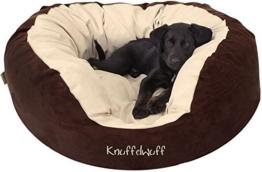 Knuffelwuff 12664 Hundebett Dooly - Größe L, 80 x 75 cm sehr weich gepolstert -