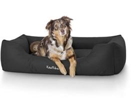 Knuffelwuff 13093 Wasserfestes Pflegeleichtes Hundebett Finlay - Größe M - L, 85 x 63 cm, schwarz -