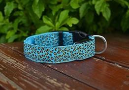 LED Halsband in verschiedenen Farben und Größen - Wasserdichte Halsbänder LED-Blinklicht-Band-Gurt für Haustiere Hunde und Katzen - Direktversand aus Deutschland von ETU24® (Blau, 40 Zentimeter) -
