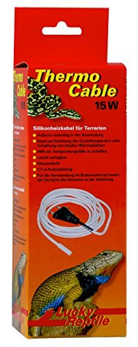 Lucky Reptile HTC-15 Thermo Cable 15 W, 3.8 m, Heizkabel für Terrarien -