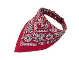 Nobby Halsband mit Tuch, rot, Länge 40 cm -