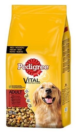 Pedigree Adult Hundefutter Rind und Gemüse, 1 Beutel (1 x 15 kg) -