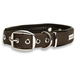 PetTec Hundehalsband aus Trioflex™ mit Polsterung, Braun, Wetterfest, Wasserabweisend, Robust -
