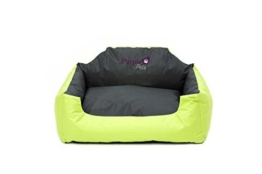 Purple-Pets Modern Hundebett, wasserresistent, Hundekorb, Hundekörbchen, Katzenbett, Haustierbett, leicht zu reinigen (klein, lindgrün) -