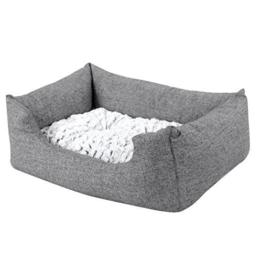 Songmics Tierbett mit Wendekissen, mit unten einen Anti-Rutschboden 60 x 50 x 22 cm PGW22G -