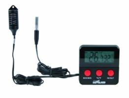 Trixie 76114 Digital Thermometer und Hygrometer für Terrarium, fernfühlend -