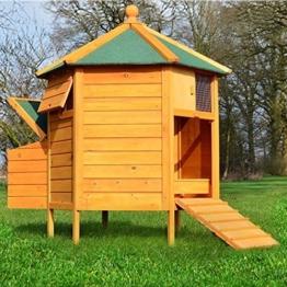 """ZooPrimus Hühner-Stall Nr 28 Geflügel-Voliere """"HÜHNER-PAVILLON"""" Enten-Haus für Außenbereich (Geeignet für Kleintiere: Hühner, Geflügel, Vögel, Enten usw.) -"""