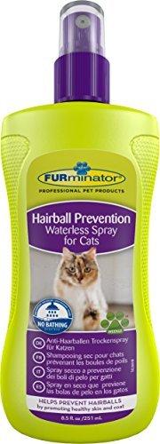 FURminator Anti-Haarballen Spray Trockenspray für Katzen, hilft übermäßiges Haaren zu reduzieren ohne zu baden, wirkt vorbeugend gegen Haarballen, 1 Sprühflasche (1 x 250 ml) -