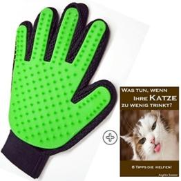 TaliTatz Katzenbürste mit Massage-Effekt die schonende Fellpflege und Haarentfernung bei Katzen. Dieser Fell-Handschuh entfernt lose Haare / Fellwechsel und eignet sich für ALLE Haustiere. Die 180 Silikon-Noppen massieren sanft den Katzenkörper wie ein Katzenkamm Katzenpflege deluxe (grün) -
