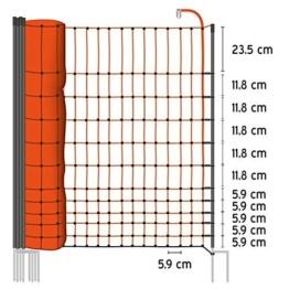 50m Geflügelnetz von VOSS.farming, Euronetz, 112cm, 2 Spitzen Geflügelzaun Hühnerzaun Gänsezaun -