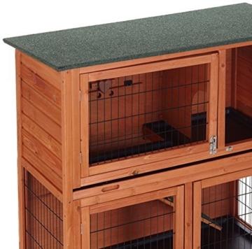 bunny business stall f r kaninchen meerschweinchen 2 ebenen mit auslauf haustierzubeh. Black Bedroom Furniture Sets. Home Design Ideas