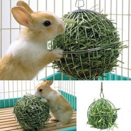 Futterball Kugel Dispenser Spielzeug Hängend für Kaninchen Hamster Edelstahl , 8cm -