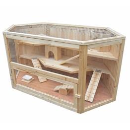 Kaninchenhaus Rattenkäfig Nagervilla Kleintierkäfig Hamsterkäfig Holz Stall Maus -