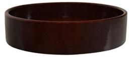 K&K Kleintier Futterschale vollglasiert 800 ml braun 20x6 cm aus schwerer Steinzeug-Keramik -