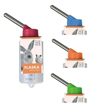 Kleintiertränke Nagertränke aus Kunststoff – FLASKA – 100 ml für Hamster & Gerbils -